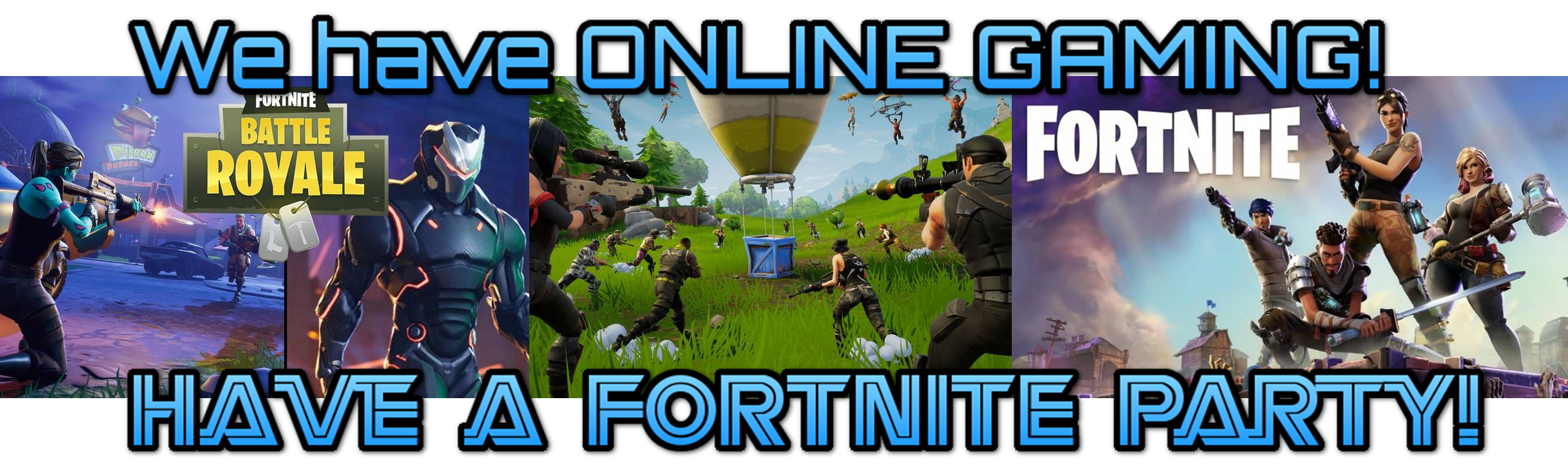 Fortnite party - online gaming birthday party in Chicago Illinois