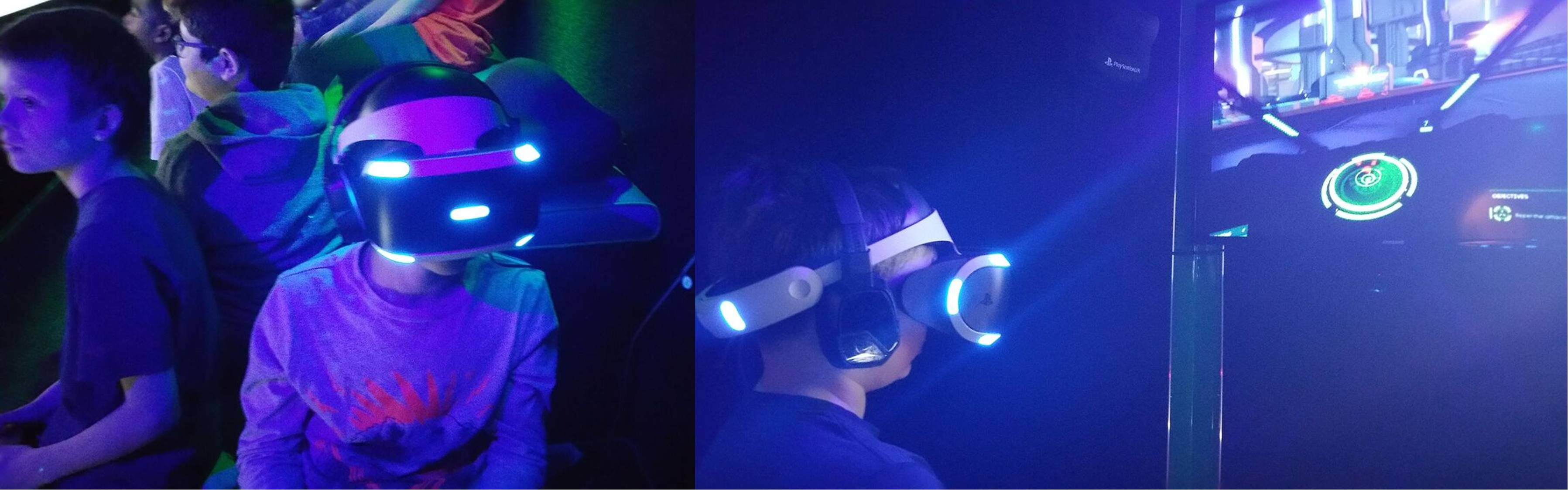 Virtual reality video game play at Chicago Illinois birthday party